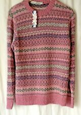 NEW LADIES FAIR ISLE NORDIC PATTERN KNITTED ACRYLIC WINTER JUMPER *10 COLOURS*