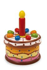 Spieluhr Geburtstagstorte aus Holz Geburtstag Deko Musik für Kinder Neu
