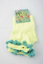 Pretty Polly ~ BOBBLE ~ liner ankle socks BNWT ~ fluro yellow O/S