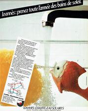 Publicité Advertising 117  1980  Joannès    chauffe-eau solaire