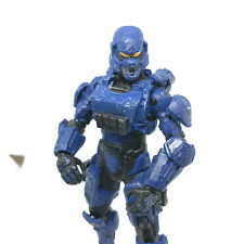 """Halo McFarlane Toys Blue Spartan Soldier - 5"""" Halo 4 Series 1 with Assault Rifle"""