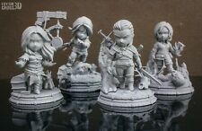 The Witcher Minifigures Set | 70mm / 2.75inch | 3D Printed Resin Figures