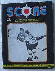 Maine Mariners 1979 AHL Hockey Program (Nova Scotia Voyageurs) poor condition