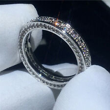 Band in Solid 14K White Gold 1.50Ct White Round Diamond Eternity Ring Wedding
