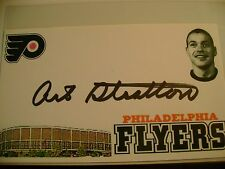 ART STRATTON HAND SIGNED AUTO AUTOGRAPH HOCKEY INDEX CARD PHILADELPHIA FLYERS