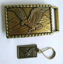 Flying EAGLE Belt Buckle & Key Chain.  New Condition,  Ships USA