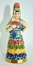 Vintage Mexican Folklorico Dance Senorita Fan Lady Mexican Pottery Figure Mexico