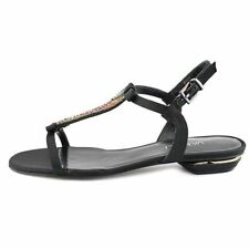 """0 to 1/2"""" Flat Heel Women's Canvas Sandals and Flip Flops"""