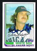 LaMarr Hoyt #428 signed autograph auto 1982 Topps Baseball Trading Card