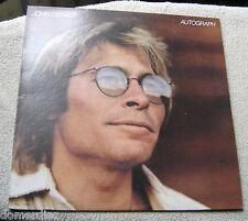 John Denver Autograph LP 1980 RCA Inner sleeve NM The Mountain Song American Chi