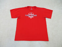 Majestic Florida Panthers Shirt Adult Medium Red White NHL Hockey Mens A35*