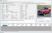Vehicle Service and Maintenance Tracking Database Software