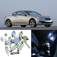 9pcs White Interior LED Light Package Kit for Hyundai Genesis Coupe 2010-2016