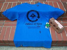 NEW LRG Lifted Research Group CHILDREN OF VISION Blue Blk Men's T-Shirt S/Small