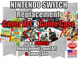 Switch Replacement Game Cover Art Box Art Nintendo and Game Case