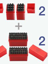 2 Sets 5mm Letter Number Punch Stamps Hard Bearing Steel Metal Stamping Tool Kit