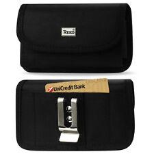 REIKO Heavy Duty Rugged Canvas Metal Belt Clip Case Card Slot for Alcatel PHONES Idol 4 6055