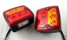2 x LED Arrière Feux W. / PLAQUE IMMATRICULATION caravane camping car remorque