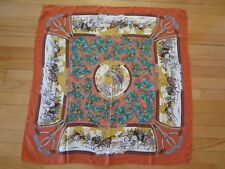 PRINTEMPS Paris Boutique Made in ITALY 100% SILK Square Scarf 33'' X 33'' VTG