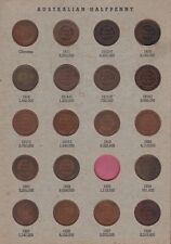 Half Penny Set Australia inc varieties no 1923 one  B-245