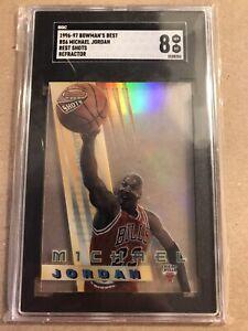 Michael Jordan 1996-97 Bowman's Best Shots Refractor SGC 8