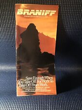 Braniff Airlines Schedule/Timetable, February 15 1989