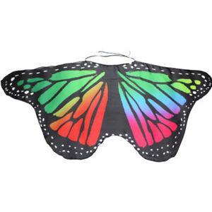 Girl Butterfly Wings Costume Kids Cape Holloween Cloak Fairy Wing Princess Shawl