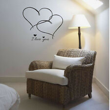 Wall Sticker Decal Vinyl Art Home Bedroom Decor Mural I Love You Double Heart