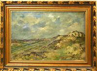 E3-072.PAYSAGE. HUILE SUR TOILE. ARTHUR (WILLAERT) TREALLIW. BELGIQUE.1875-1942