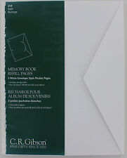Gibson Z10 Memory Book Refill Pages / Envelopes fits B0, W0, and S26