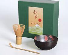 Matcha Schale / Besen / Löffel / Matcha Set 3-tlg. Blüten rot, 300ml, Aricola®