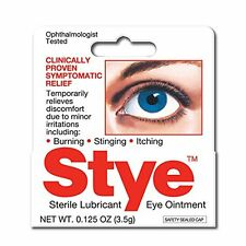6 Pack Stye Sterile Lubricant Eye Ointment 0.125 Oz Each