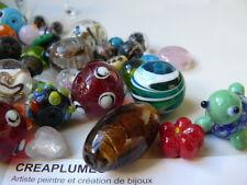 Lot de 10 Perles de verre de Murano fait à la main mixte, 11~29x11~25x11~15 mm,