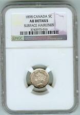 1898 Canada 5 cent NGC AU detail