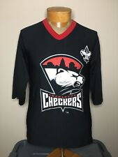 Charlotte Checkers Carolina ECHL 3/4 Sleeve Jersey Shirt Youth Size L