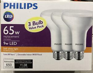PHILIPS Dimmable Flood LED Light Bulb 65W 3PK Soft White BR30 9290011749 464198