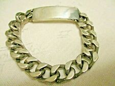 Vtg Sterling Silver Id Bracelet 63.6 g ~ Not Scrap