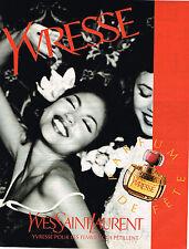 PUBLICITE ADVERTISING 114  1996  YVES SAINT LAURENT parfum YVRESSE femme