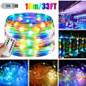 33FT/10M 100-LEDs USB Powered Waterproof LED Tube Light Lamp Fairy String Rope