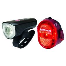 SIGMA LED Fahrrad-Beleuchtungs-Set Aura USB+Nugget II USB, in schwarz