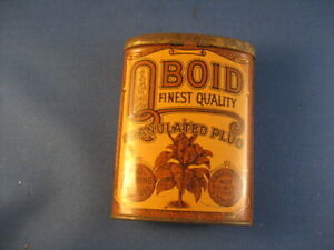 Very Nice Oval Oboid Pocket Tin With The Tobacco Stamp