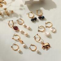 Hoop Pearl Earrings For Women Wedding Dangle Earring With Pearl Female Jewelry