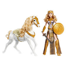 Wonder Woman Queen Hippolyta Doll w/ Sword, Shield & White Horse w/ Saddle Armor