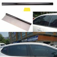 "1% 19.7"" x 236"" Black Car Window Glass Tint Film All Sides Rears Side Waterproof"