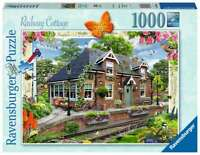 Ravensburger Railway Cottage 1000 Piece Jigsaw Puzzle Brand New and Sealed
