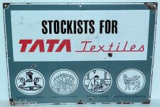 TATA Stockists for Textiles PLAQUE EMAILLEE usine émail motor group enamel plate