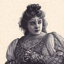 Portrait XIXe Sibyl Sanderson Sacramento Californie Soprano Opera Chanteuse