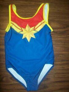 Little Girls Marvel WONDER WOMAN 1-Pc Swim Suit Swimsuit - Size 4 - New NWT BLUE