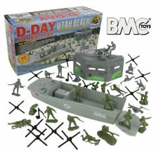 BMC WWII D-day Plastic Army Men Utah Beach 40pc Soldier Figures Playset