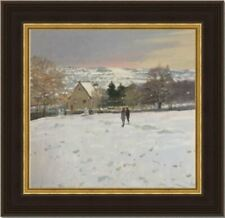Snow Scene : Original Oil Painting by Peter Z Philips